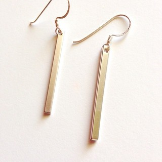 Shoptiques Product: Simple Bar Earrings