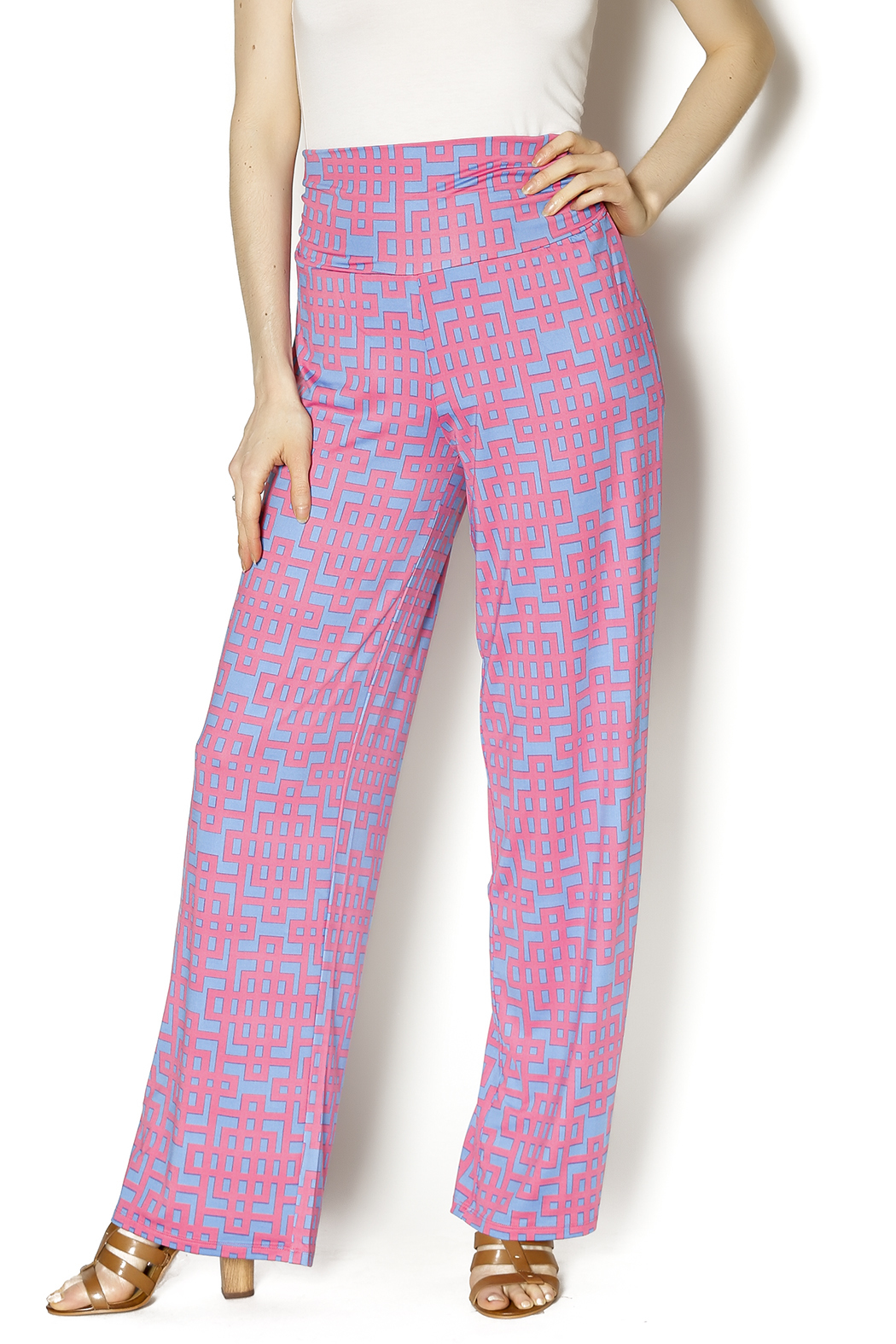 Mud Pie Harlow Palazzo Pants - Front Cropped Image