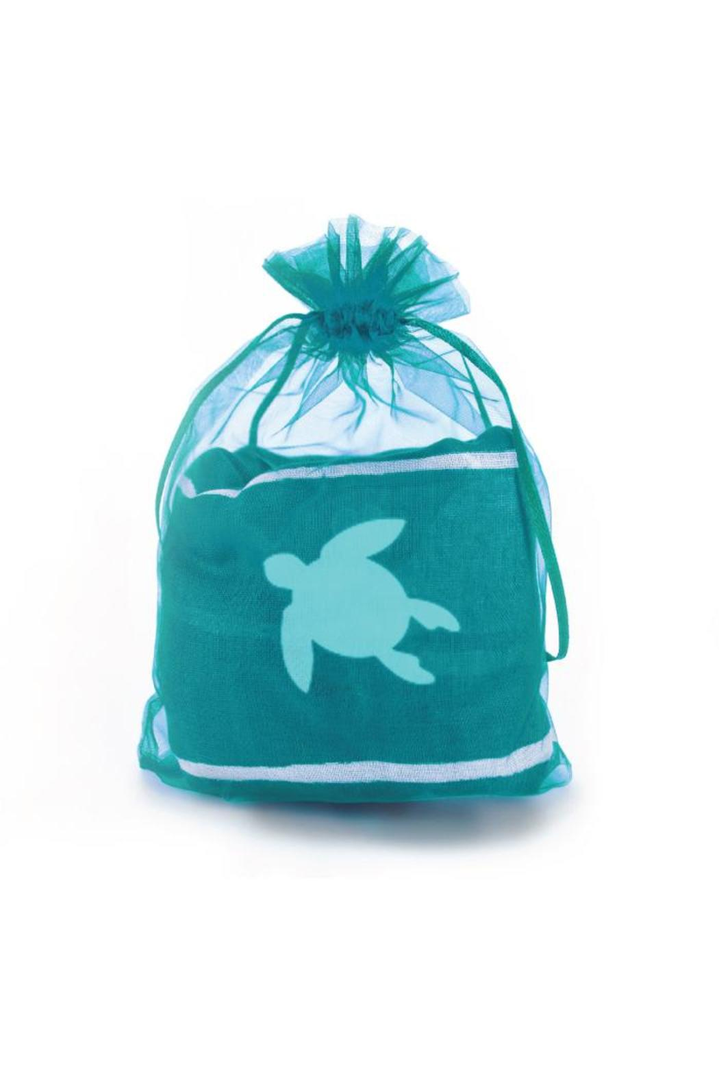 Winky Designs Teal Turtle Scarf - Front Full Image