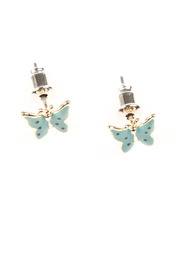 Shoptiques Product: Enameled Butterfly Studs