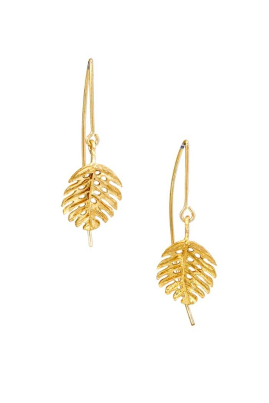 TeGo Feather Bronze Earrings - Main Image
