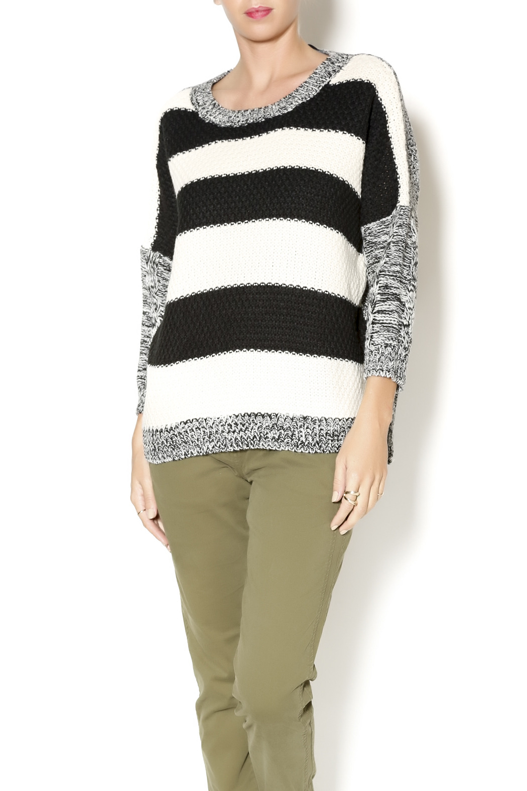 a0f2cfdec39 Honey Punch Striped Heather Sweater from New York by Dor L Dor ...