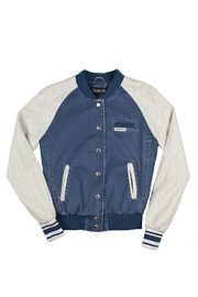 Members Only Washed Varsity Jacket - Front cropped