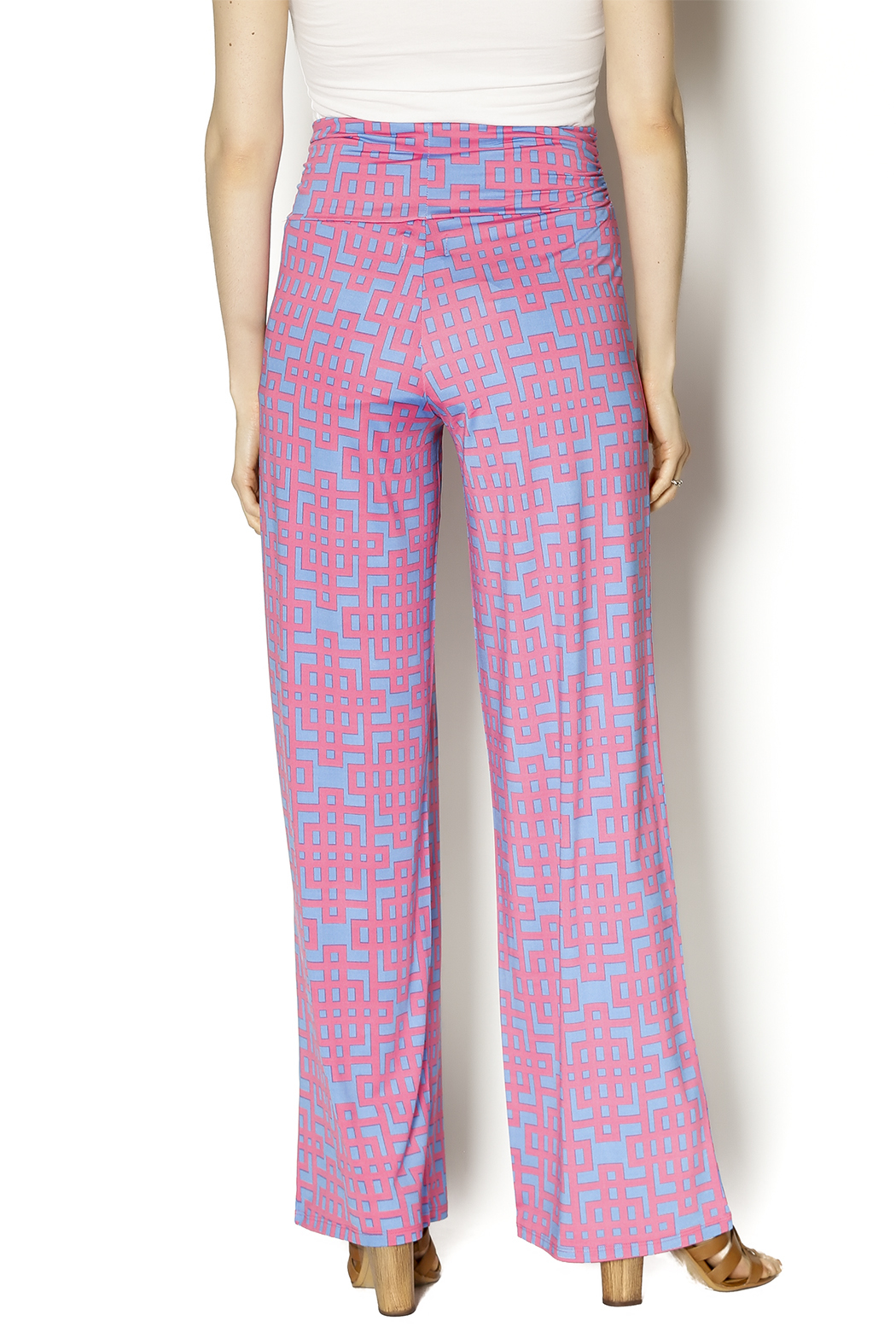 Mud Pie Harlow Palazzo Pants - Back Cropped Image