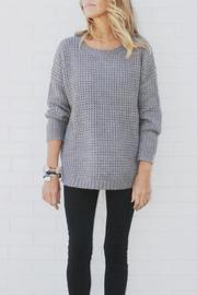 House of Lucky Chunky Boyfriend Sweater - Front cropped