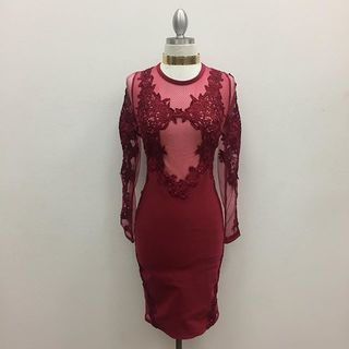 Shoptiques Red Sheer Dress