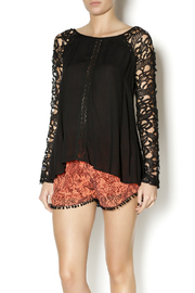 Double Zero Black Lace Sleeve Blouse - Other