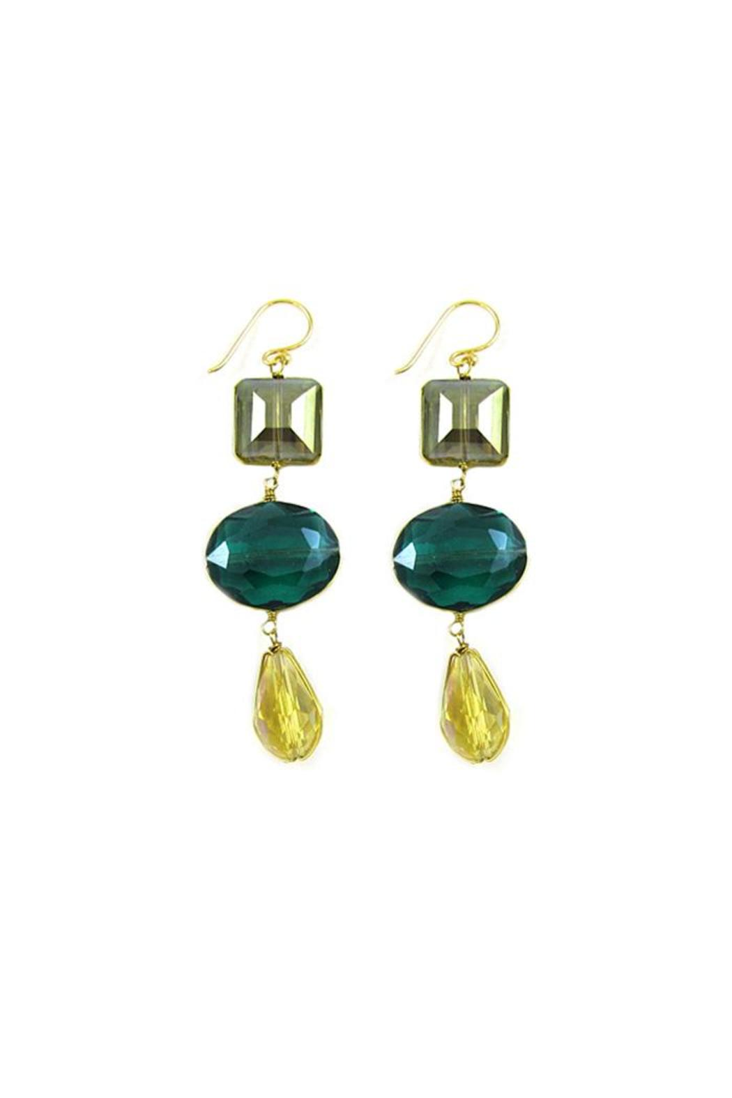 Ananda Crystal Drop Earrings - Main Image