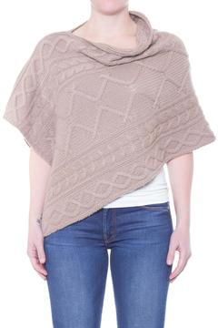 New Scotland Cashmere Cable Poncho - Product List Image