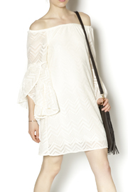 Rachel Kate Ivory Lace Dress - Front cropped