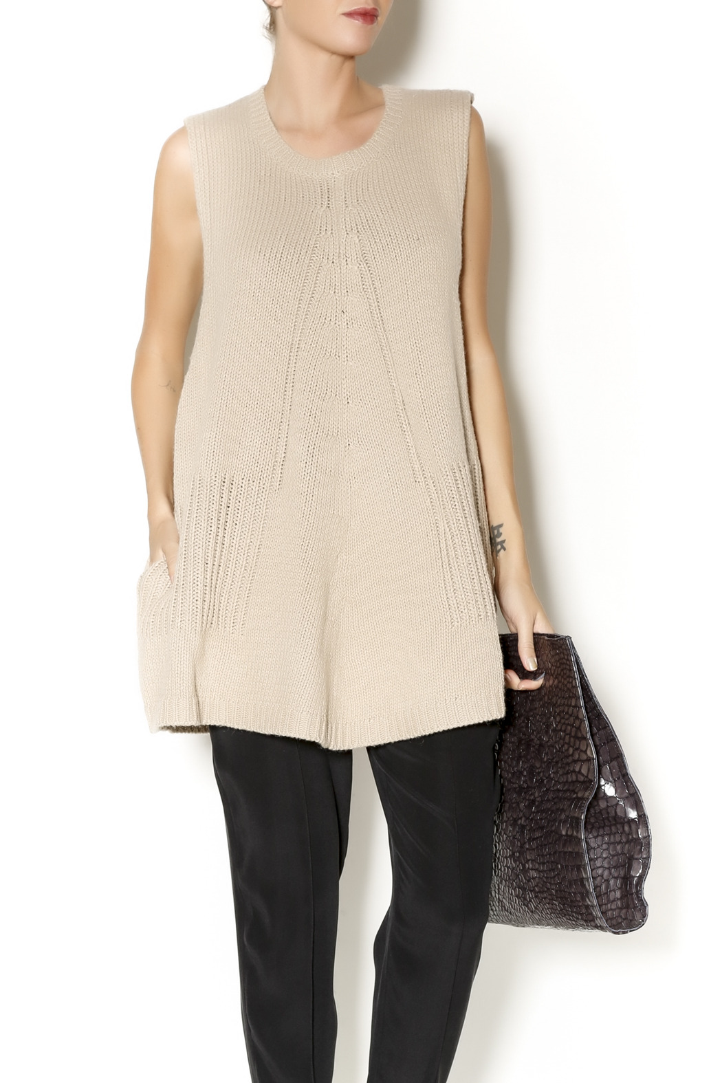 Gracia Sleeveless Sweater Tunic from New York by Just B Boutique ...