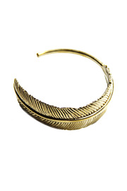 Shoptiques Product: Gold Feather Bracelet