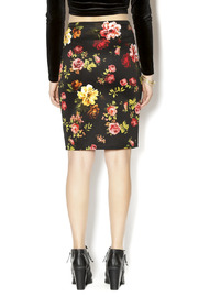 Ambiance Floral Pencil Skirt - Back cropped