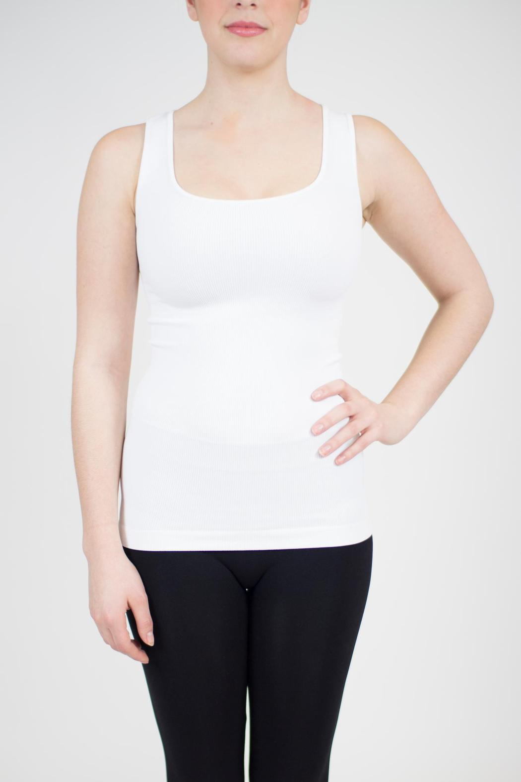Sugarlips Seamless Ribbed Tank - Front Cropped Image