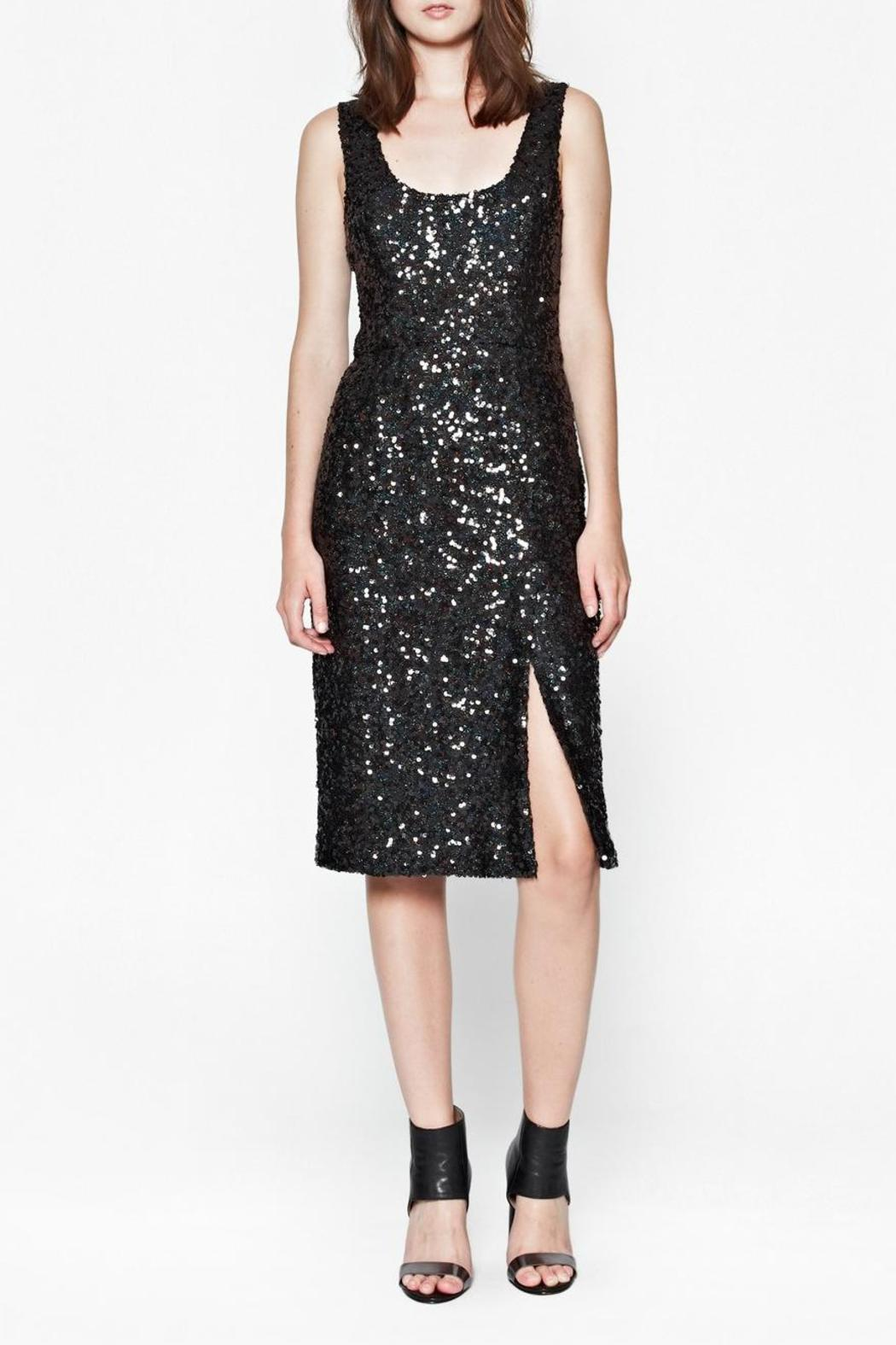 French Connection Cosmic Sparkle Dress - Front Full Image