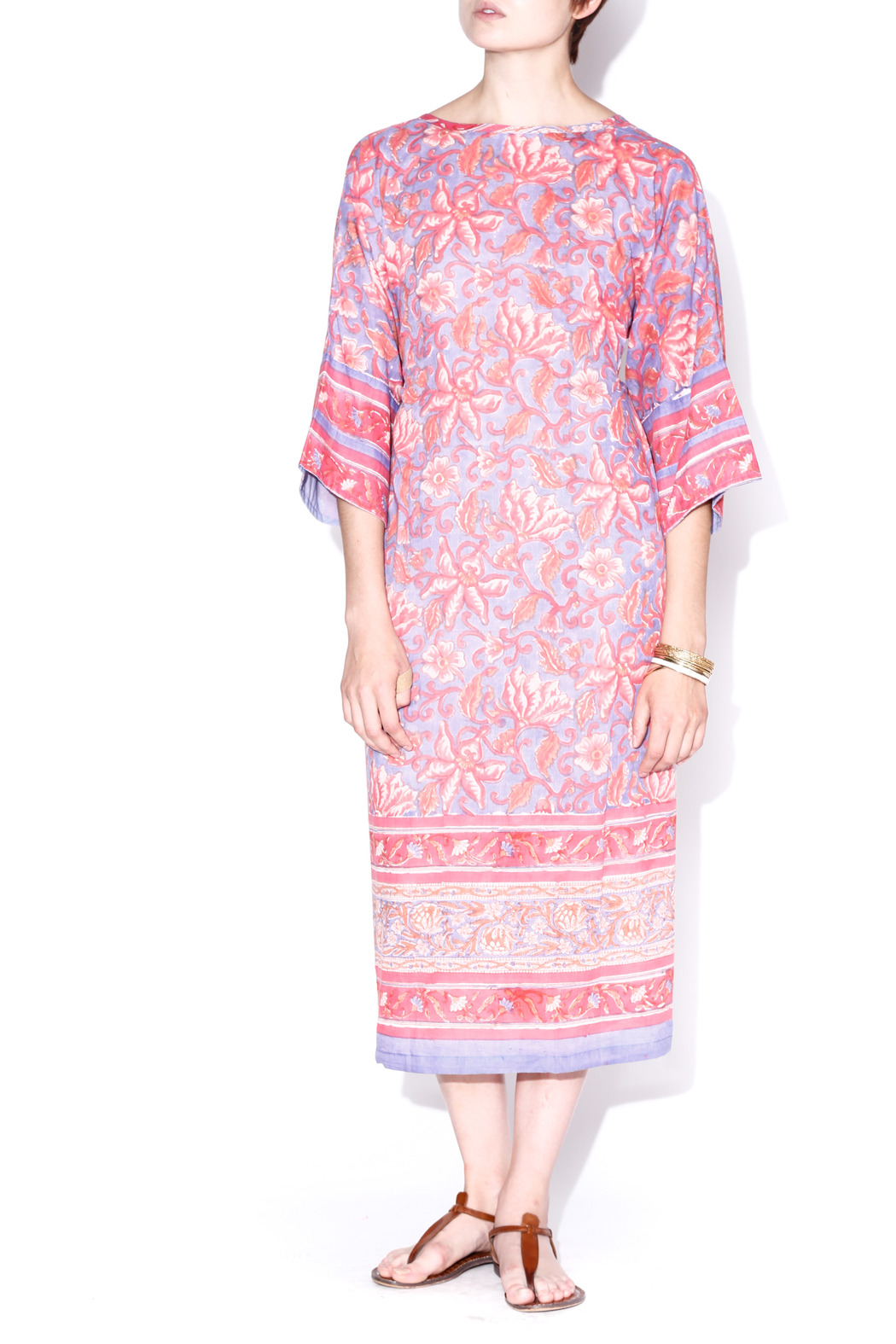 Kerry Cassill Big Floral Kurta - Front Cropped Image