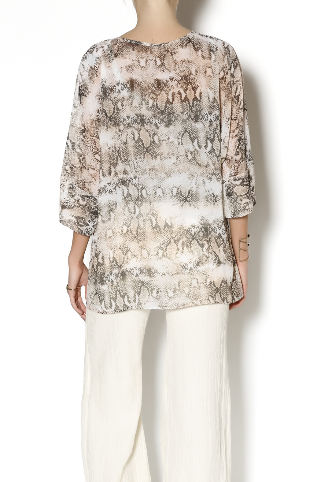 Julian Chang Snake Print Tunic - Back Cropped Image