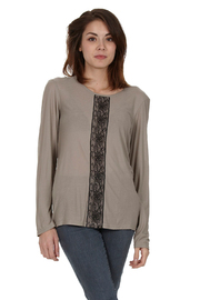 Shoptiques Product: Long-Sleeve Lace-Detail Tee