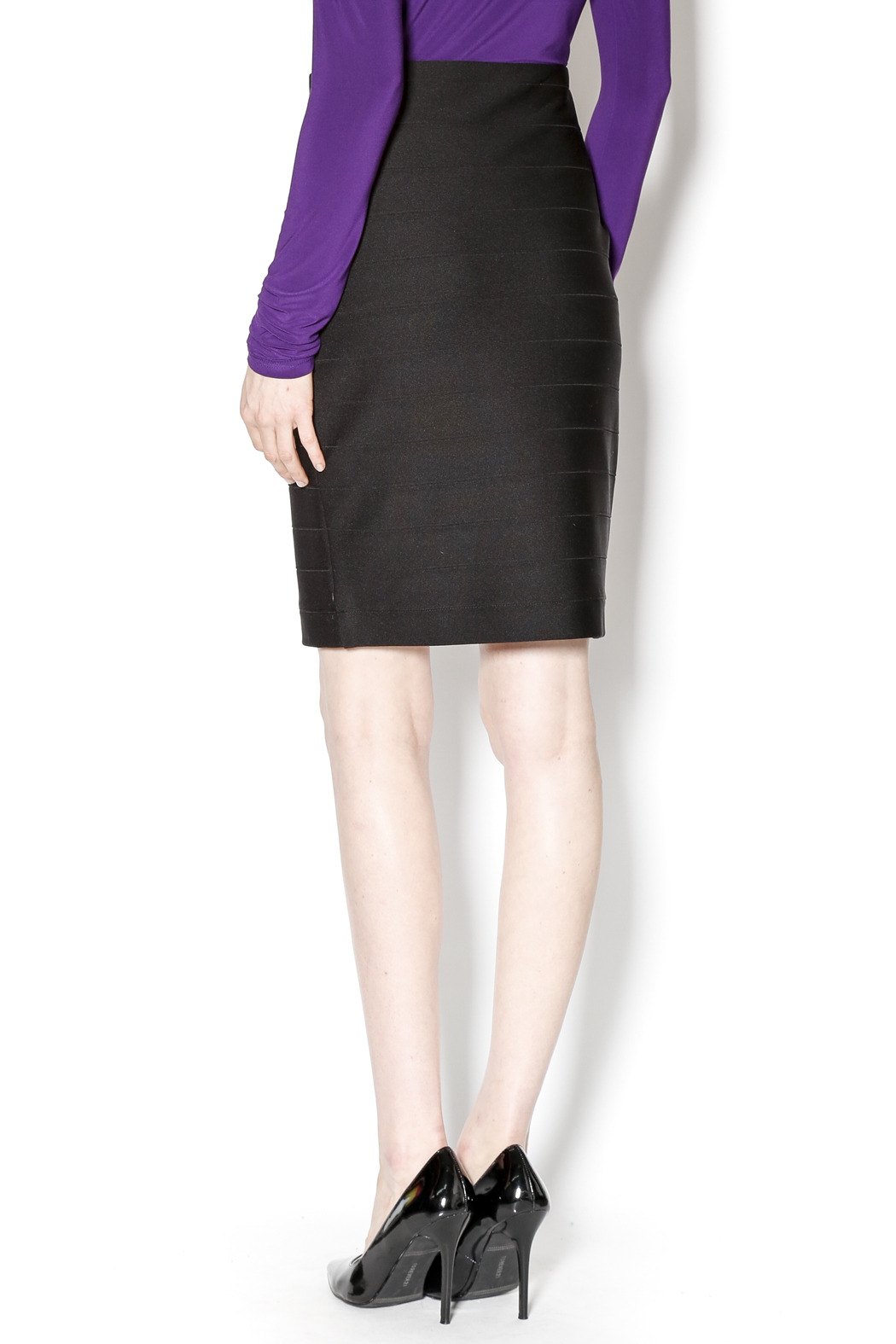 Joseph Ribkoff Bandage Mini Skirt - Back Cropped Image
