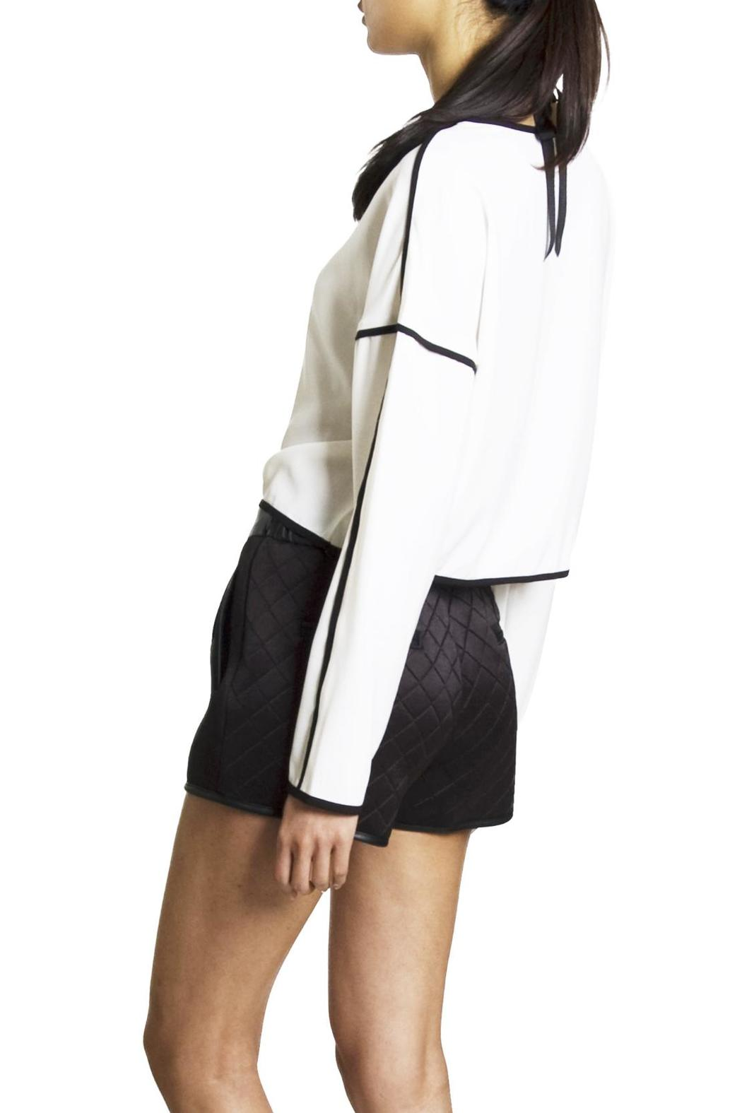 Endless Rose Contrast Crop Blouse - Back Cropped Image