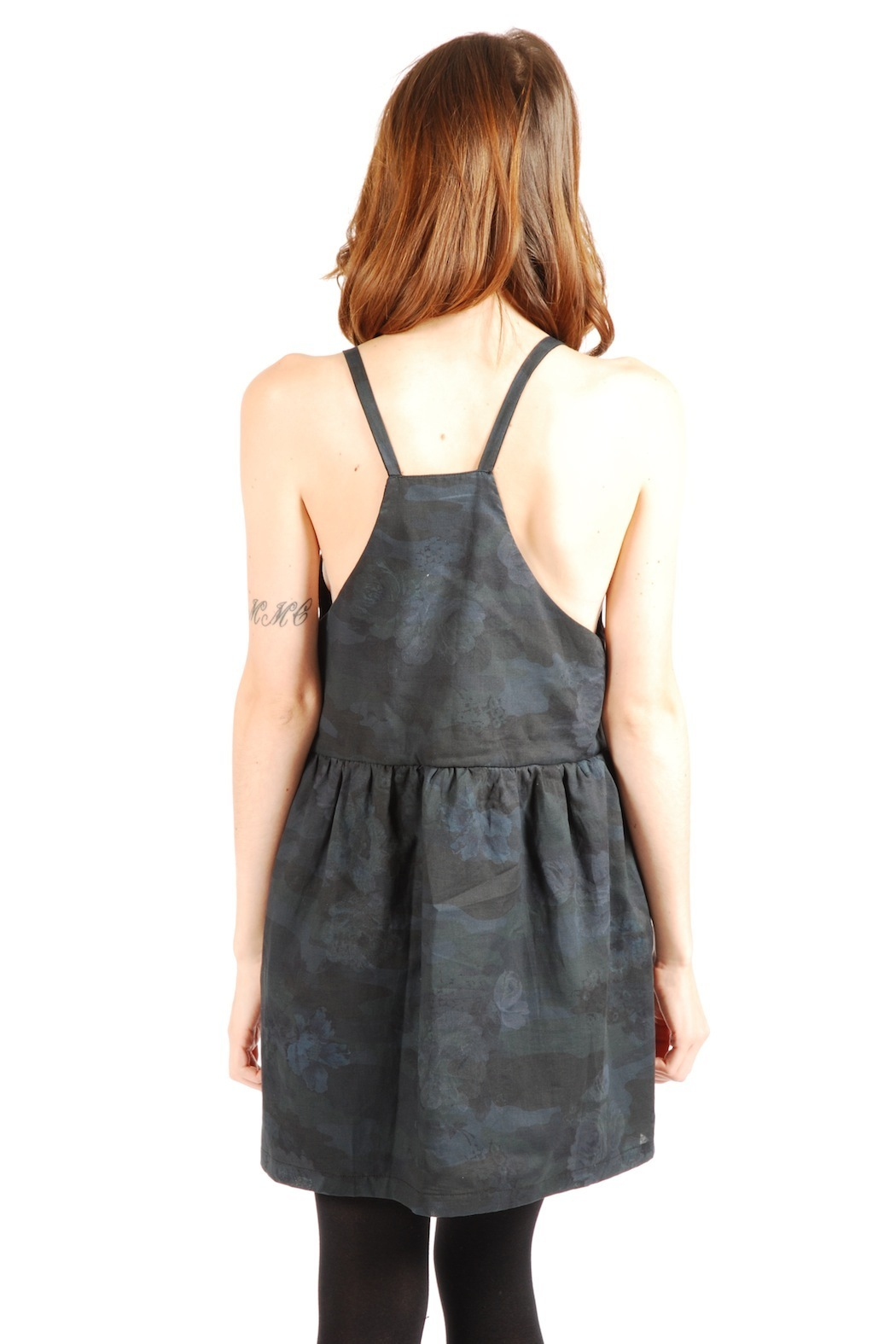 Mimi's Beer Spaghetti Strapped V-Neck Dress - Back Cropped Image