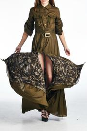MHGS Olive Maxi Dress - Product Mini Image