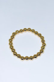 Goldfish and Butterflies 8mm Gold Filled Stretch Bead Bracelet - Product Mini Image