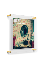 The Birds Nest 8X10/9X12-DOUBLE PANEL FLOATING FRAME(GLASS MEASURES 12X15) - Side cropped