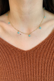 Amber  9 Stone Amazonite Necklace - Product Mini Image
