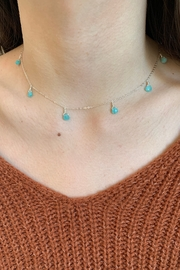Amber  9 Stone Amazonite Necklace - Front cropped
