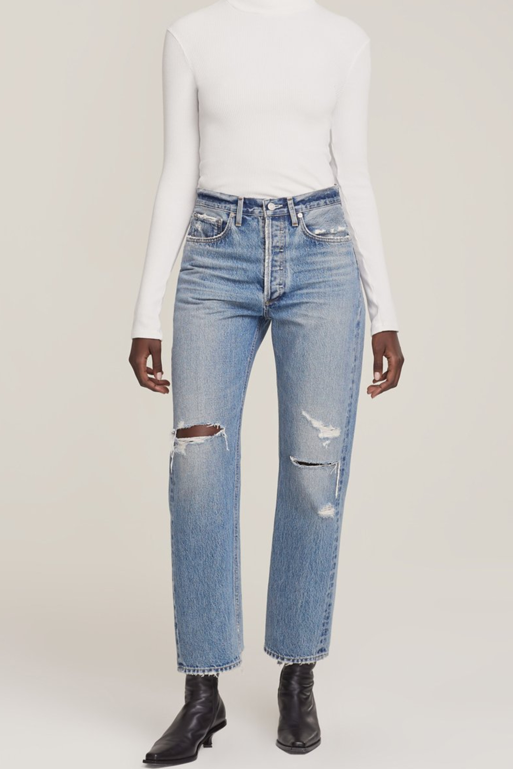 AGOLDE 90's Jean in Steamline - Front Cropped Image