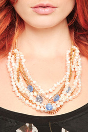 Shoptiques Product: Pearl and Stone Necklace - Other