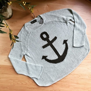 Shoptiques Product: Gray Anchor Sweater