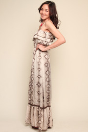 Shoptiques Product: Python Maxi Dress - Front full body