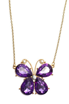 Creative Treasures Vibrant Butterfly Necklace - Product List Image