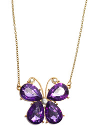 Creative Treasures Vibrant Butterfly Necklace - Product Mini Image