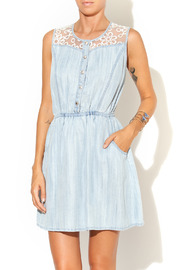 Collective Concepts Denim Dress - Front cropped