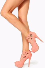 Qupid Caged Peep-Toe Stiletto - Other