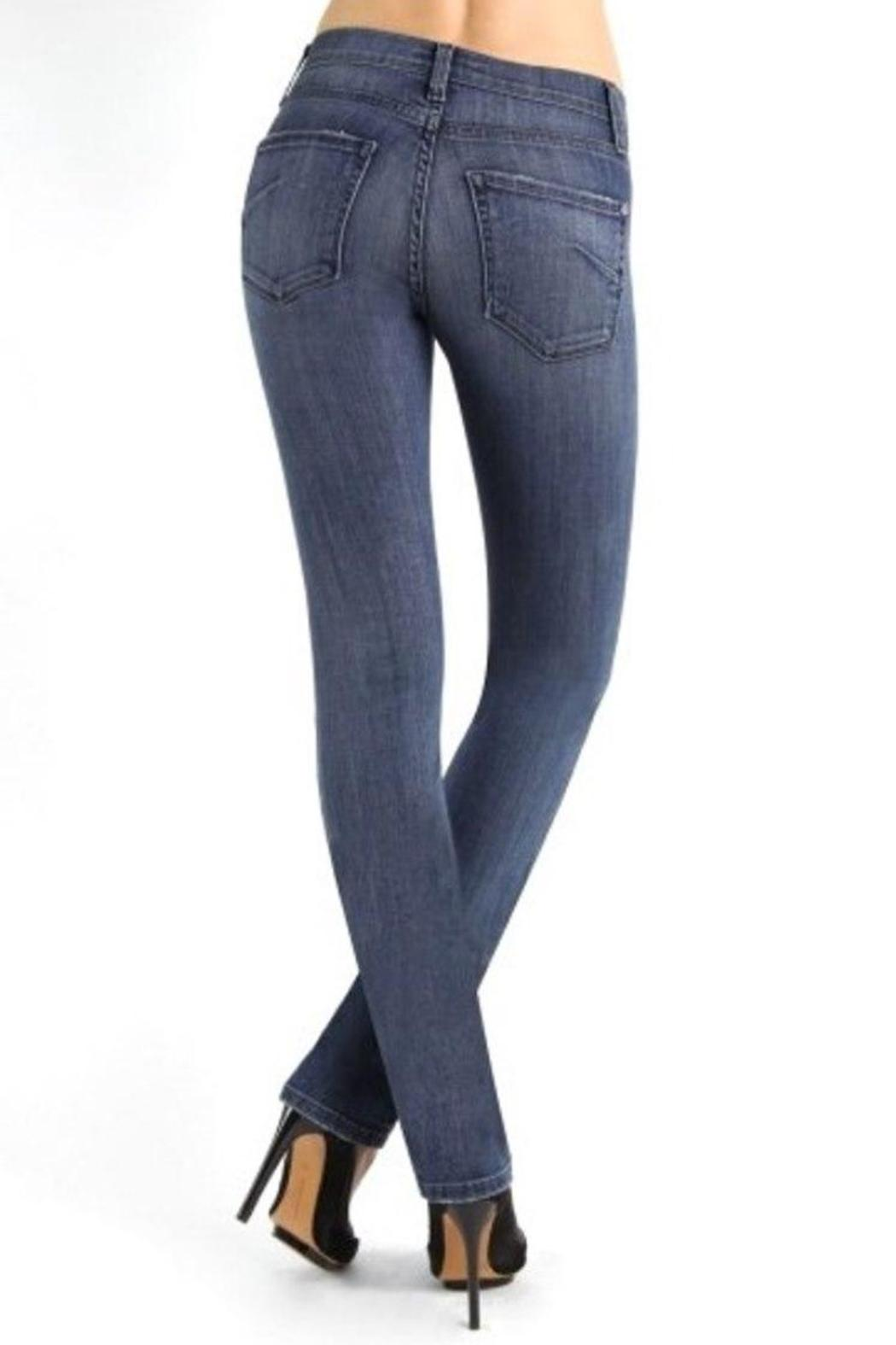 James Jeans High Rise Straight - Back Cropped Image