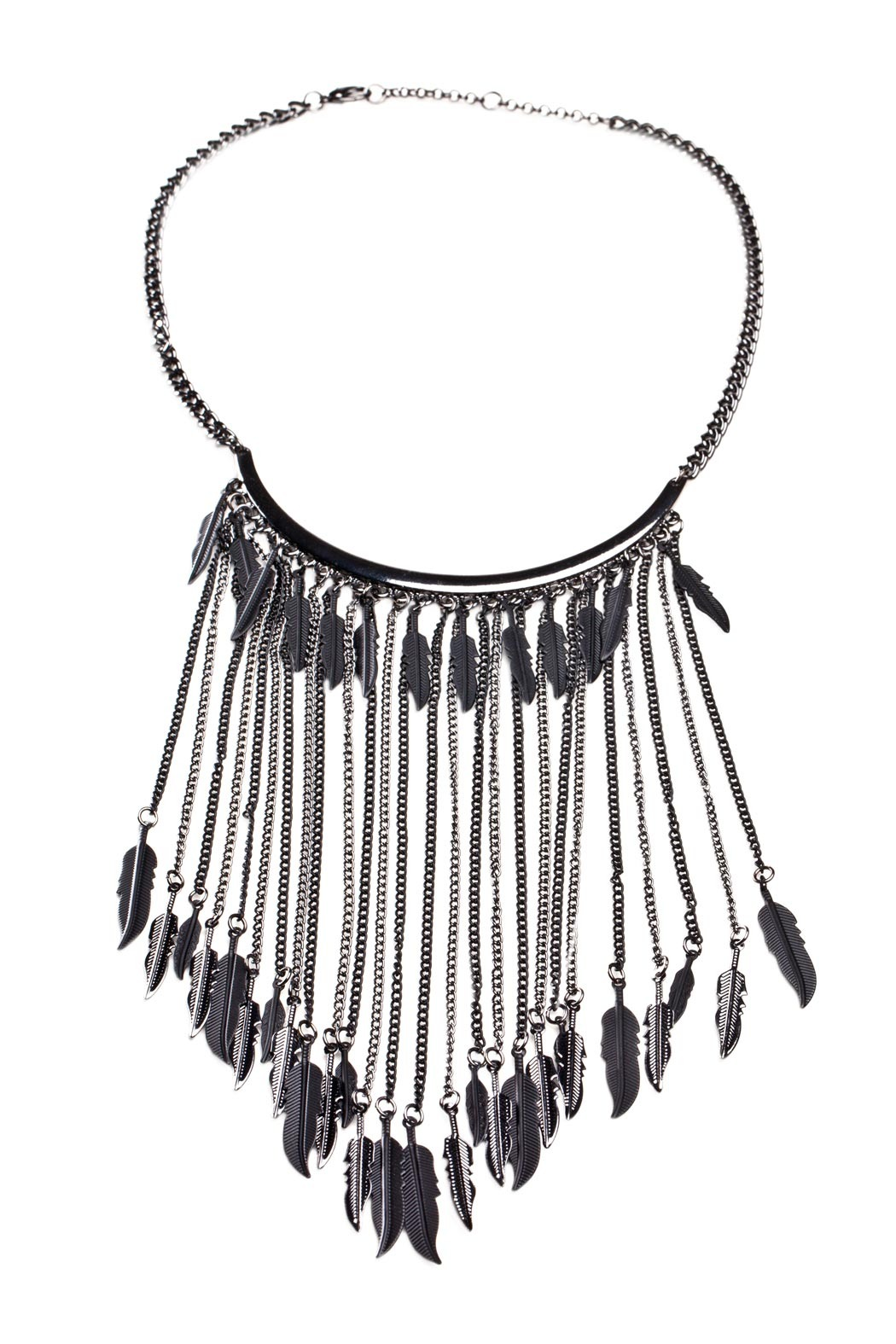 Number A Dangling Feather Necklace - Main Image