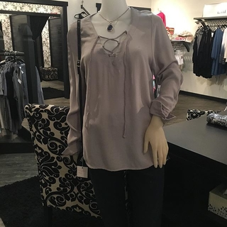 Unknown Factory Silky Lace Up Blouse - Instagram Image