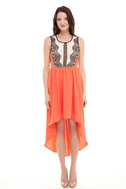 Shoptiques Product: Hi-Lo Lace Dress