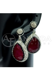 Ananda 925 Silver Earrings - Front cropped