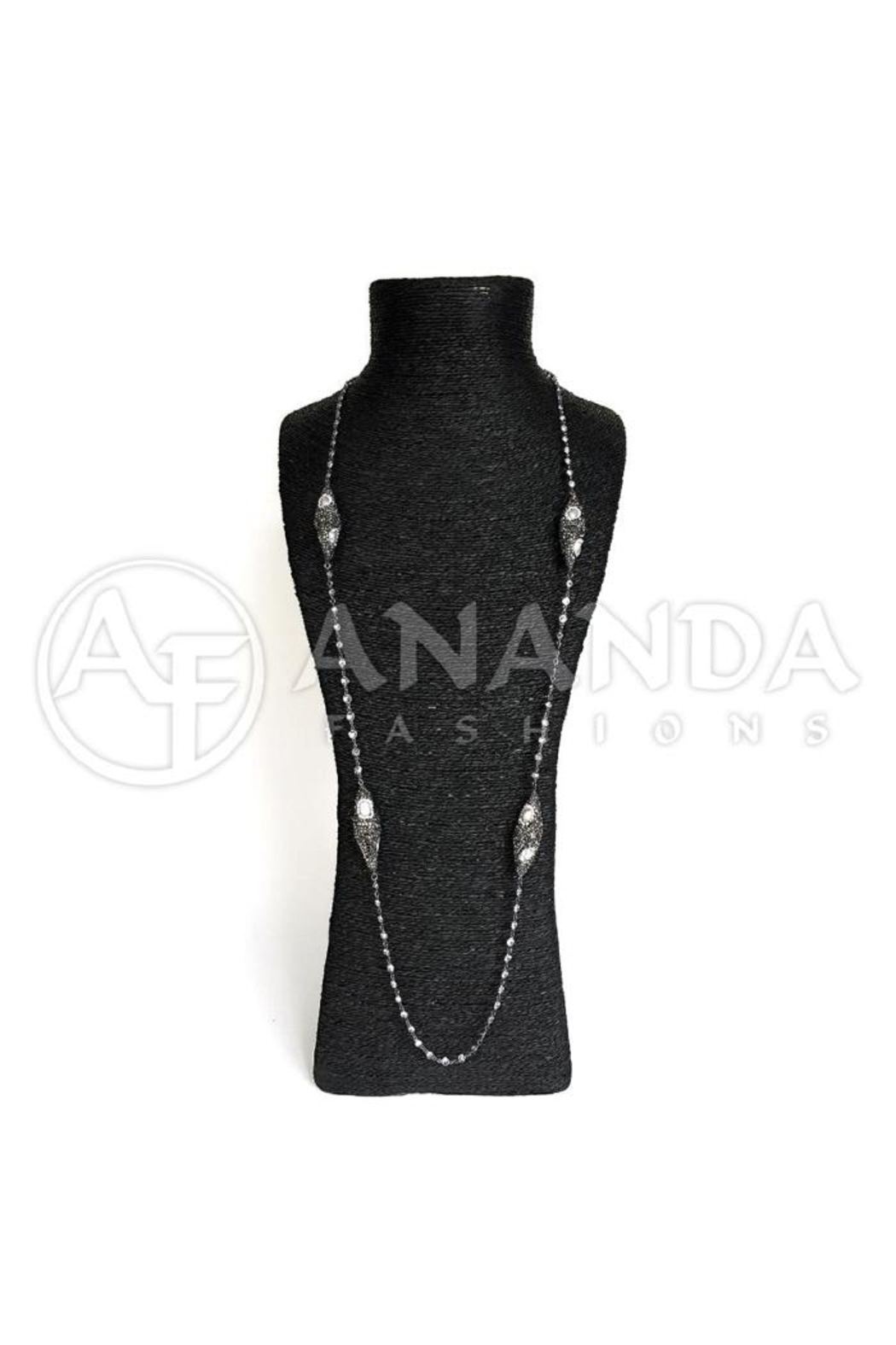 Ananda 925 Silver Necklace - Front Cropped Image