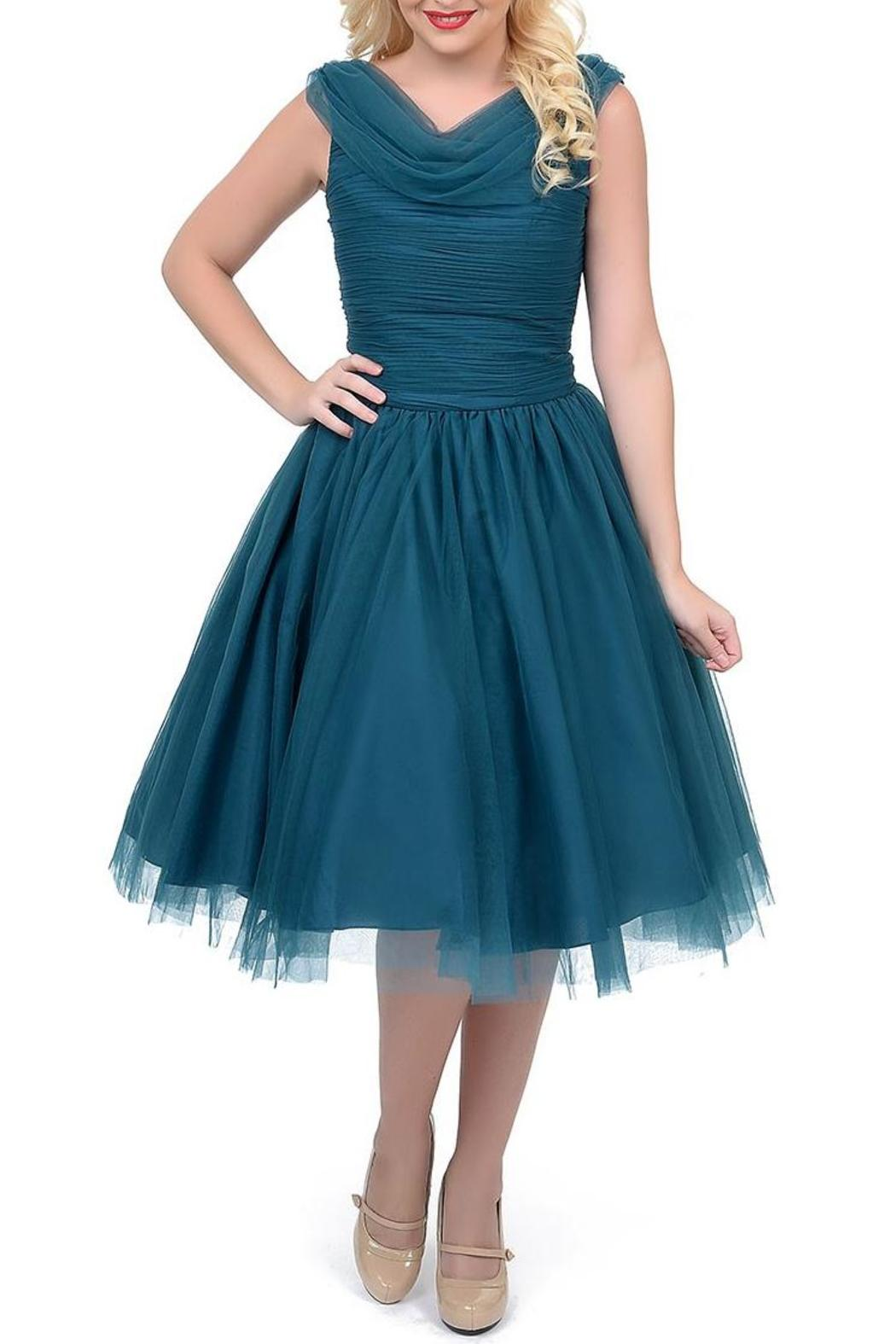 Unique Vintage Teal Cocktail Dress from Portland by Frock Boutique ...