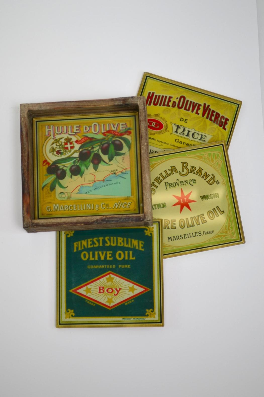 Floating Circus Vintage-Inpired Coasters - Front Cropped Image