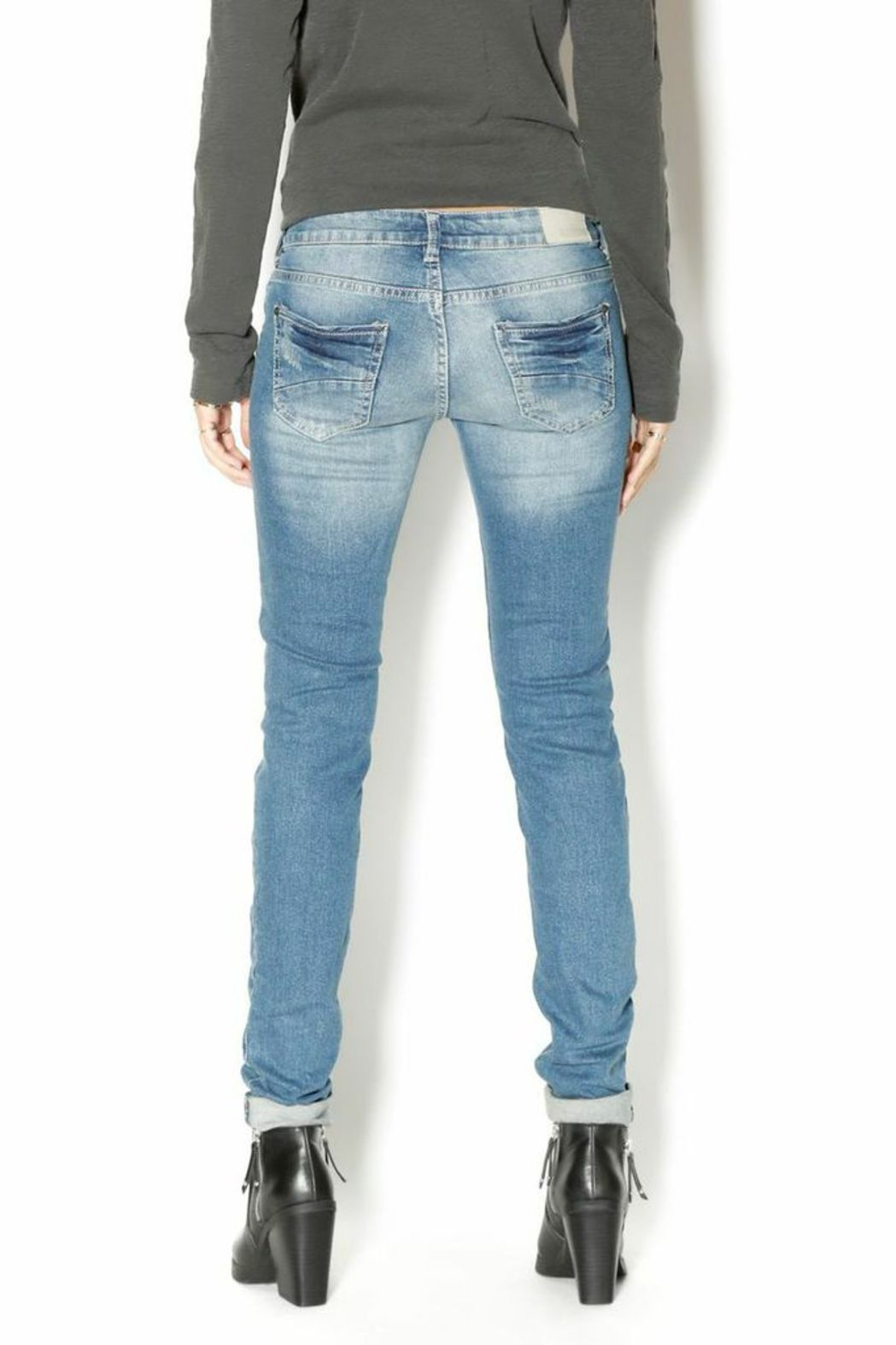 Sublevel Skinny Stretchy Jeans - Back Cropped Image