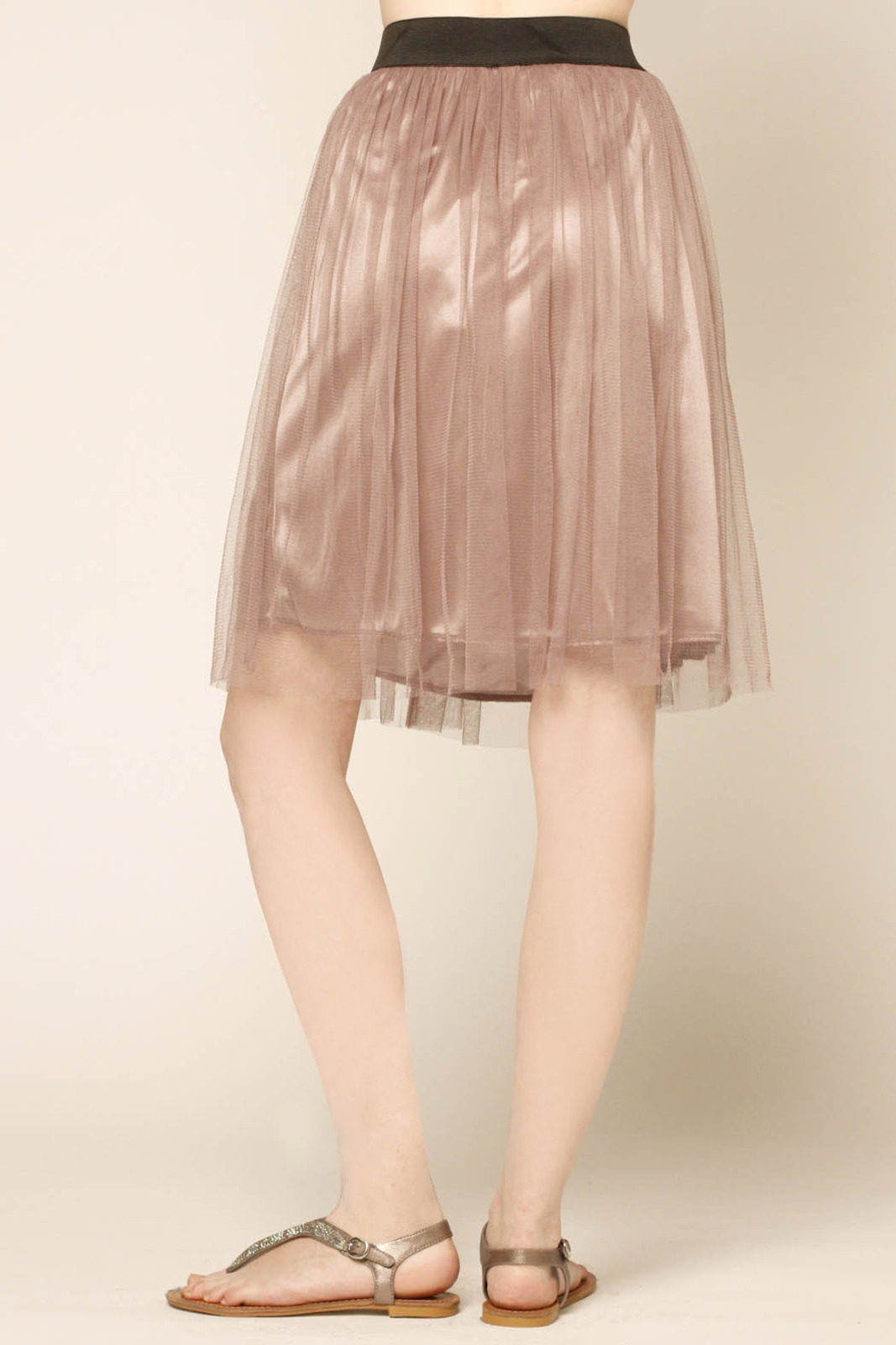 Lush Lavender Tulle Skirt - Side Cropped Image
