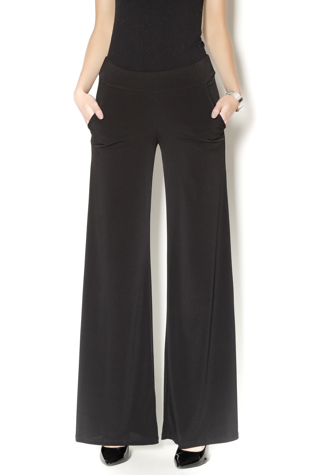 Veronica M Black Palazzo Pants From Atlanta By Squash