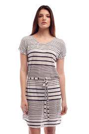 Shoptiques Product: Stripe Short Sleeve Dress